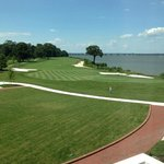 view of 18th hole and Choptank River from room