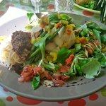 Cabillaud rôti avec légumes du soleil