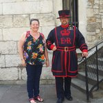Me and a humerous Beefeater.