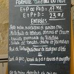 menu and set prices