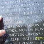 Names on the Vietnam Wall