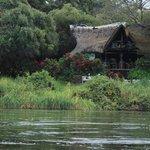 Vista del lodge dal fiume Zambesi