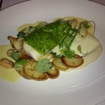 Main Course (Plaice with herb crust)