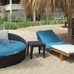 Our palapa set-up - thanks Junior!