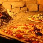 Pizzas en el horno