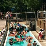 """Gives you an idea of how crowded this place gets. So much for a """"lazy river"""""""