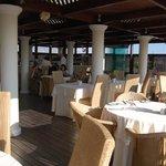Rooftop restaurant bar
