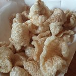 a delicious order of fresh, hot pork rinds!