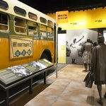 Main museum interior:Rosa Parks bus