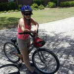 daughter with bike