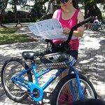 mom with bike