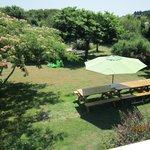 le jardin de l'hôtel  - vue de la chambre