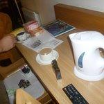 Chá, café a nossa disposição