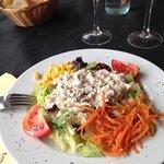 mushroom salad - a light dish!