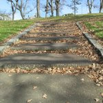 Steps leading to the park