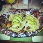 Tacos with grilled chicken and avacado