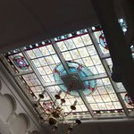 Our beautiful stained glass ceiling window