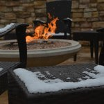 Outdoor firepit open year-round