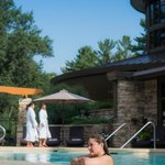 Heated outdoor infinity pool open year-round