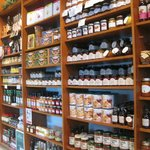 International selection of sauces, pastas, jams, cookies, condiments and more