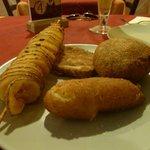 I frittini misti (spiedino-crocchetta e riso ripieno)