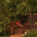 Relax under the trees at the Castle's Gazebo decks