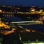 Coimbra ao entardecer - vista do rio Mondego