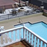 Pool and fire pit deck
