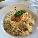 Risotto with mushrooms and 2 large shrimp