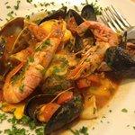 Seafood in Ravioli