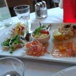 Antipasto dello chef con 6 gusti diversi