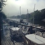 The view from the Boathouse Grill's window tables!
