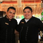 Felipe and Miguel - Awesome bartenders who work extremely hard!