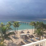 View from our room- gorgeous even when the rain is coming!