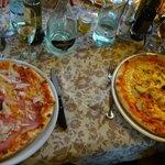 Pizza Emiliana et 4 stagioni