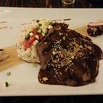 Sirloin Steak Mole with Jalapeno Risotto Main Course