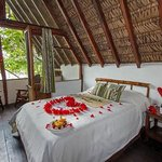 Our bungalow decorated for a romantic package. Experience the Amazon in a unique way!