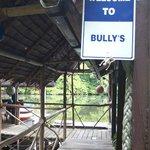 Entrance to Bully's restaurant.