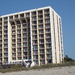 hotel from the beach.