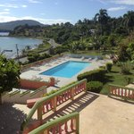 Over looking the pool and toward the town of Port Maria.