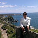 Cliff top walk and vista