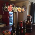 Selection of beers on tap.