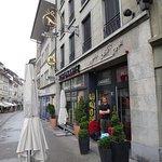 Exterior of the Faucon along the popular Rue de Lausanne