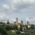View of San Gimignano towers