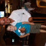 My son and a waiter