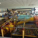 A view of the indoor activity room