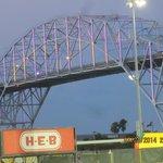 Lighted bridge near Lexington & Whataburger ball field