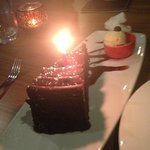 Chocolate Cake dessert on my birthday