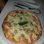 Pizza bianca cotto panna e funghi