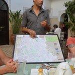Aziz giving directions